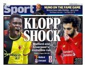 صدمة فى صحف إنجلترا بعد خسارة ليفربول وتوقف سلسلة اللا هزيمة.. صور