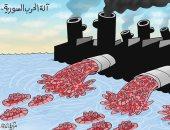 كاريكاتير صحيفة إماراتية.. هجرة السوريين نتيجة الحرب ببلادهم