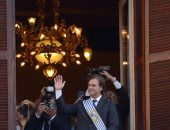 رئيس أورجواى الجديد لويس لاكال يؤدى اليمين الدستورية