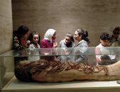 """""""رحلة مومياء"""".. برنامج توعوى لطلاب المرحلة الإعدادية بالمتحف المصرى بالتحرير"""
