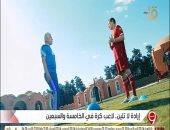 """شاهد.. """"الإبراشى"""" يشارك تدريبات رياضية مع """"بهادر"""" أكبر لاعب في العالم"""