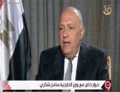 """وزير الخارجية: """"لن نقبل أو نتعامل مع أى احتمال لوقوع ضرر جسيم على مصر"""""""