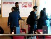 شاهد لاعبى الزمالك فى مطار القاهرة استعدادا للسفر لتونس