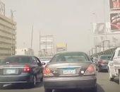 كثافات مرورية أعلى كوبرى أكتوبر المتجه من مدينة نصر للمهندسين