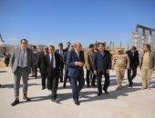صور.. وفد من مستشارى مجلس الدولة يزور العاصمة الإدارية بحضور وزير الإسكان
