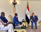 فيديو.. السيسي يستقبل نائب رئيس جنوب السودان ويرحب بتشكيل حكومة الوحدة