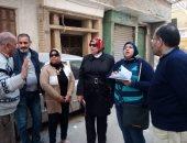إخلاء عقار مائل بالإسكندرية وفحص العقارات المجاورة للتأكد من سلامتها