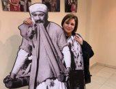 إلهام شاهين وبوسى شلبى في معرض فريد شوقى بمهرجان السينما في الأقصر.. صور