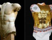 """معرض """"الآلهة بالألوان"""" مشروع دولي يهدف لتلوين الآثار القديمة.. صور"""