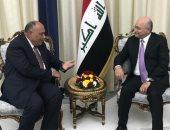 سامح شكرى يسلم الرئيس العراقى رسالة السيسى حول تطورات سد النهضة
