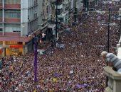 مسيرات نسائية فى أوروجواى احتفالا بيوم المرأة العالمى