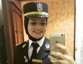 برة الملعب.. منى الحافظ لاعبة طائرة بدرجة ضابط: بحب صلاح ولو اتعاكست هستخدم القانون