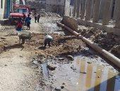 مياه الصرف الصحى والمياه الجوفية تهدد أهالى قرية بمركز اخميم بسوهاج
