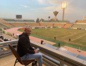 شيتوس في مباراة المقاولون والطلائع لمتابعة لاعبي المنتخب الأولمبى