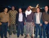 """الفنان العالمى جيمى جون لوى بمعابد الكرنك لحضور """"عروض الصوت والضوء"""" بالأقصر"""