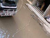 غرق شارع يوسف بالمطرية بمياه الصرف الصحى