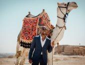 جيرالدو يستغل استبعاده للإصابة من مواجهة سموحة ويزور الأهرامات.. صور