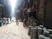 رصف 10 شوارع بالإنترلوك فى البساتين ضمن خطة تطوير جنوب القاهرة