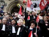 إضراب للمحامين فى فرنسا احتجاجا على قوانين التقاعد