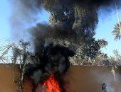 اللحظات الأولى لسقوط صواريخ على معسكر التاجي في العراق