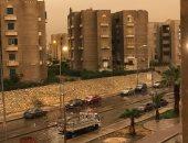 قارئ يشارك بصورة لسقوط أمطار غزيرة  بالقاهرة الجديدة