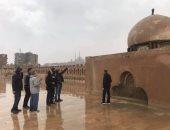 جولات بالمناطق الأثرية لمتابعة سلامة الآثار عقب موجة الأمطار (صور)