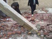 انهيار واجهة منزل بأخميم سوهاج دون حدوث إصابات بشرية