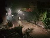 موجة أمطار شديدة تضرب مدن القليوبية وتتسبب فى قطع الكهرباء ببعض المناطق
