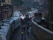 صور.. هيئة السكة الحديد: تصادم القطارين وقع نتيجة عطل فى برج الإشارات