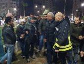 محافظ السويس والقيادات التنفيذية يتفقدون شوارع المحافظة بعد منتصف الليل.. صور