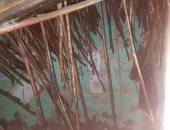 انهيار منزل من الطوب اللبن بسبب الأمطار بطنطا