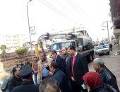 صور.. رئيس مدينة المحلة يتابع أعمال شفط مياه الأمطار بمالمدارس والمستشفيات