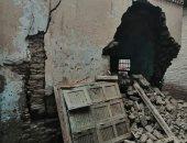 انهيار عقار بقرية الكوم الأخضر بمغاغة دون خسائر فى الأرواح.. صور