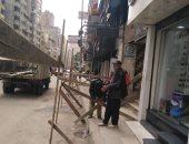 تساقط أجزاء خرسانية من عقار شرق الإسكندرية دون إصابات.. صور