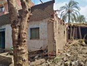 صور.. انهيار جزئى وتصدعات لمنزل بطوخ دون خسائر بشرية