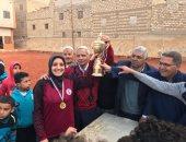 """""""رغم المعاناة"""".. اعرف قصة نجاح فريق كرة القدم النسائية بمركز شباب البرجاية بالمنيا"""