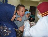 شاهد تطعيم الأطفال ضد الحصبة والحصبة الألمانية فى مدن الأقصر