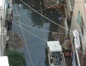 أهالى شارع الكابلات بالمطرية يشكون طفح الصرف الصحى وتراكم مياه الأمطار