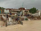 طرق قرية الديسمي بمركز الصف جيزة تغرق بمياه المطر ومطالب بتدخل المسؤولين