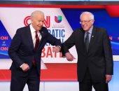 مناظرة ساخنة بلا جمهور بين بايدن وساندرز فى سباق الانتخابات الأمريكية