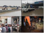 القوات المسلحة تعاون أجهزة الدولة فى التغلب على آثار الطقس السيئ.. فيديو