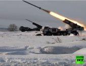 """شاهد.. صواريخ """"غراد"""" و""""أوراغان"""" تدمر عدوا مفترضا فى سماء أورينبورج الروسية"""