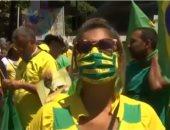 على الرغم من انتشار كورونا.. شاهد آلاف البرازيليين يحتشدون لدعم رئيسهم