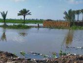 شكوى من غرق شوارع قرية سليمان بالشرقية بمياه المطر