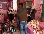 """صور.. حملات مكبرة بمدينة زفتى لمنع تقديم """"الشيشة"""" فى المقاهى"""
