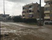 هطول أمطار متوسطة على سواحل شمال سيناء.. صور