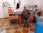 صور.. حملات الوحدات المحلية على الكافيهات لمصادرة الشيشة ببنى سويف