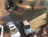 شكوى من انتشار مياه الصرف بسبب انسداد خط الصرف بحدائق الأهرام