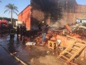 صور.. السيطرة على حريق داخل ستوديو تصوير مسلسل فى منطقة الهرم