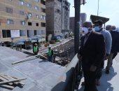صور.. وزير النقل يرتدى كمامة طبية خلال تفقد أعمال تطوير الدائرى